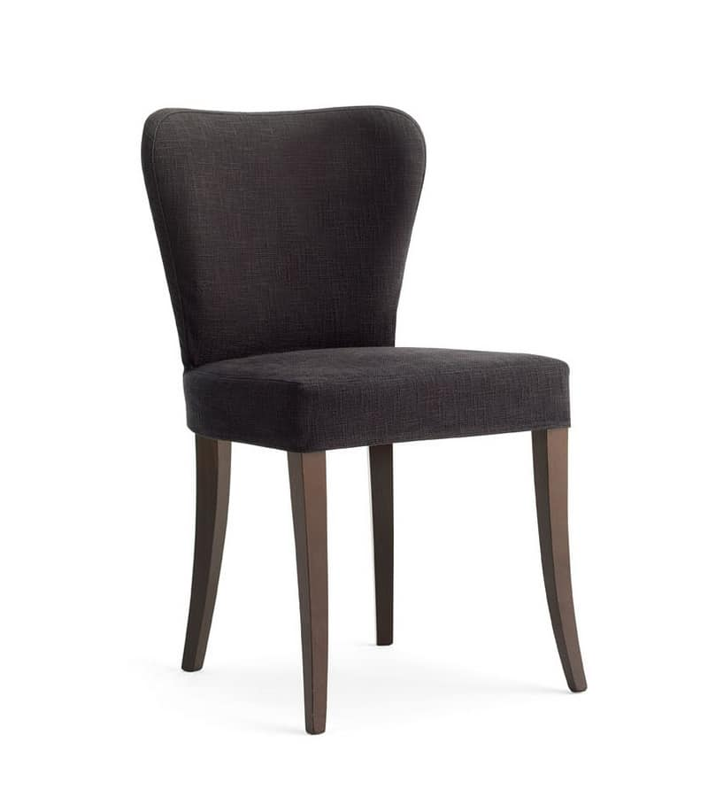 VENETO, Upholstered chair fully covered in fabric