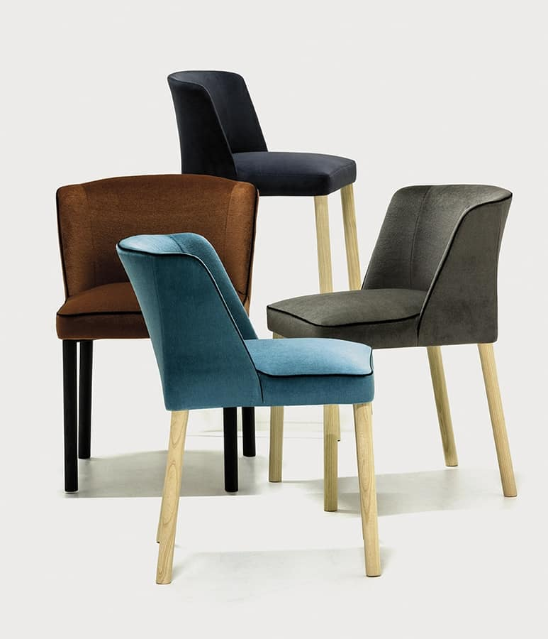 Virginia 4L, Chair solid and soft, with an essential style