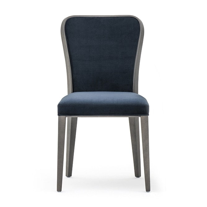 Wave 02711, Refined wooden chair with padded seat and backrest