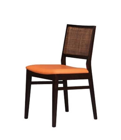 330 C, Beech chair with cane back for pizzeria