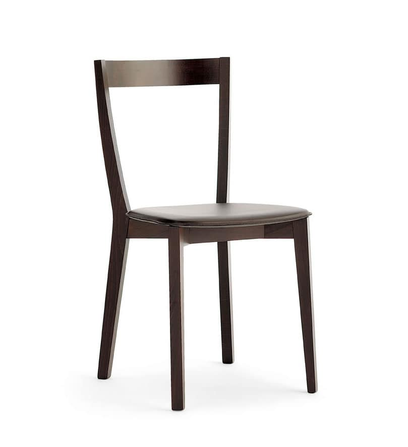 Gioy, Dining chair in beech and ash, for bars and restaurants