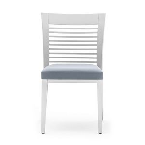 Logica 00915, Dining chair in wood with horizontal slats backrest