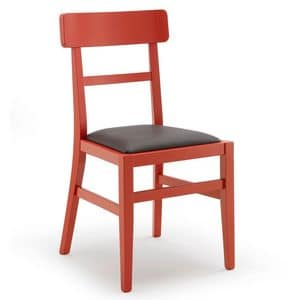 Mil�, Simple wooden chair, for kitchen and bar