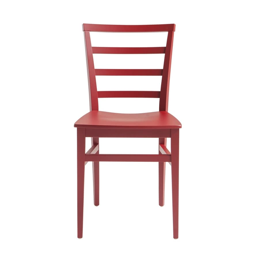 MP47D, Red wooden chair