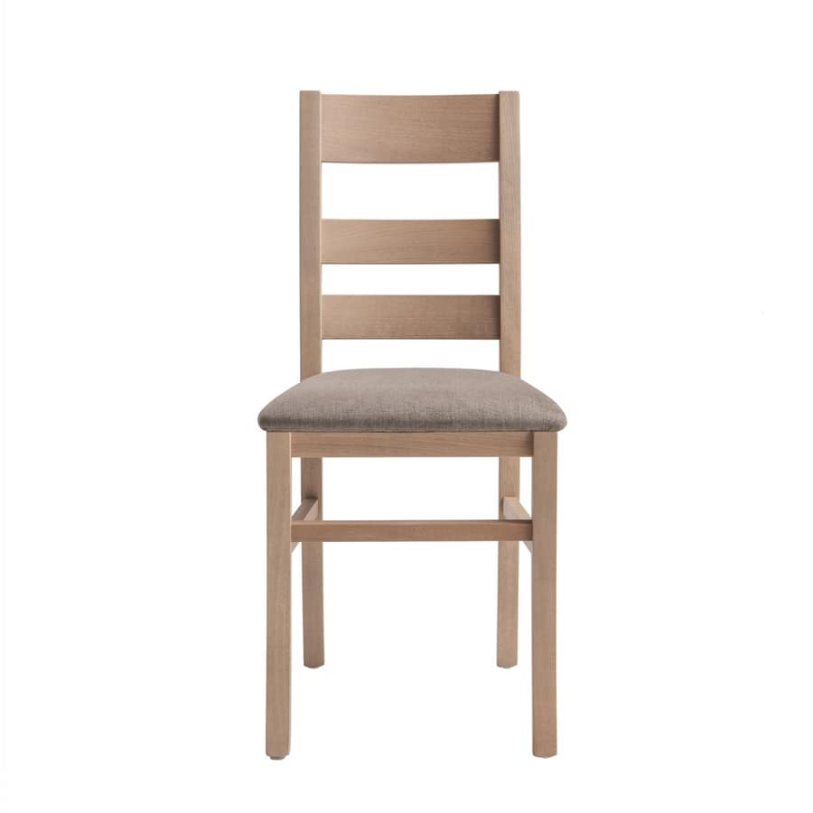 RP415, Chair with horizontal slatted backrest