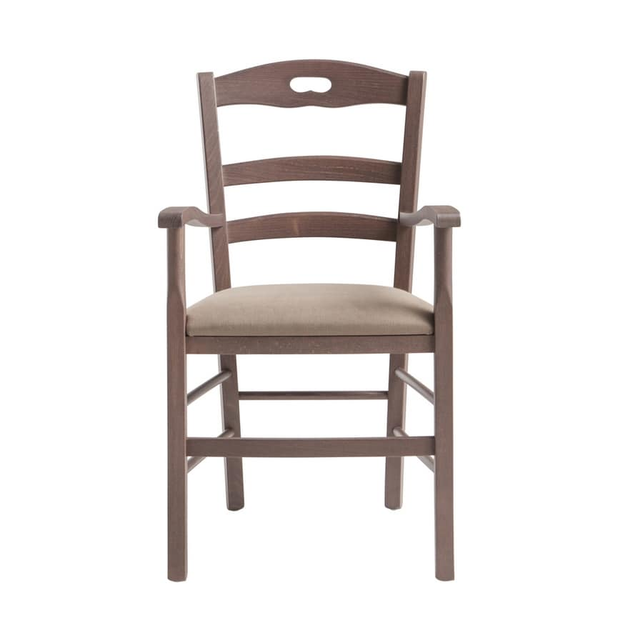 RP42BP, Chair with horizontal slatted backrest