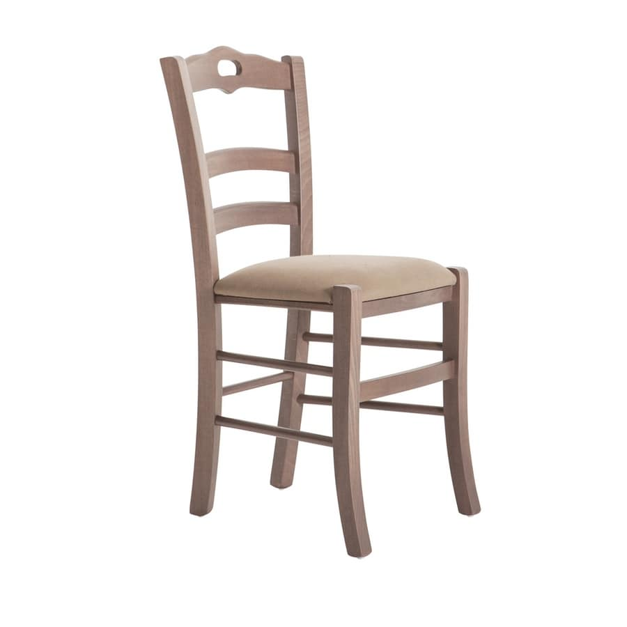 RP42C, Wooden chair with customizable seat