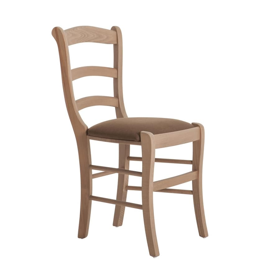 RP43H, Chair with horizontal slatted backrest