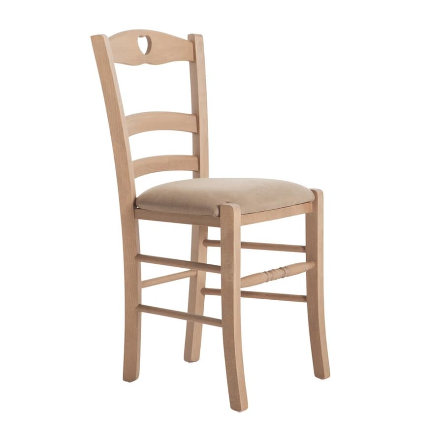 RP43P, Chair with heart-shaped decoration on the backrest