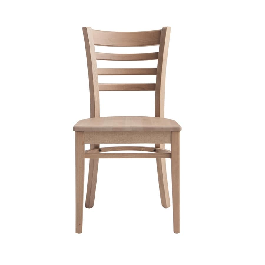 RP491, Wooden chair with customizable seat