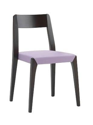 Us Cotton, Chair in wood for bar, chair with upholstered seat for home