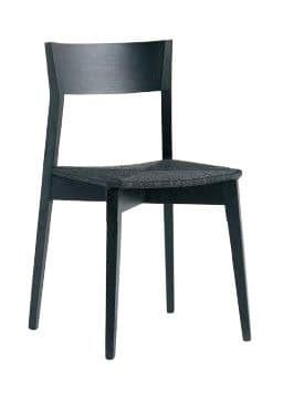 Us Miss, Black chair for bar, chair with upholstered seat for kitchen