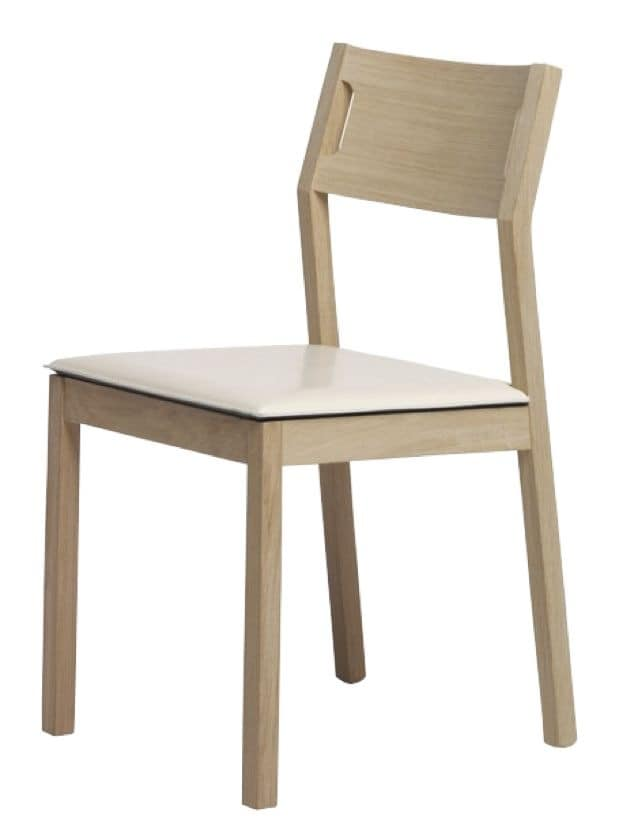 Us Mojito, Simple wooden chair for kitchen, beech wood chair suited for restaurants