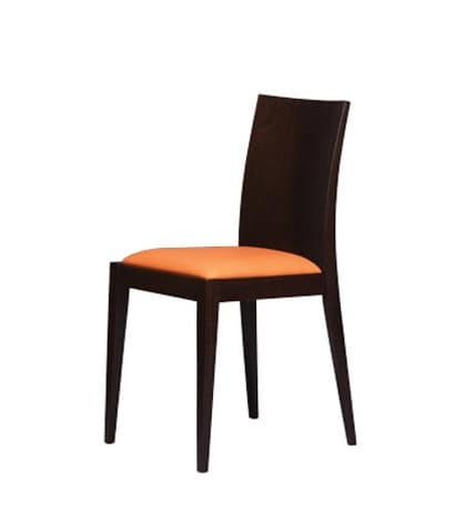 331, Chair with smooth wooden back, for bakery