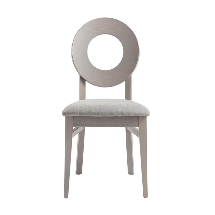 MP47U, Wooden chair with rounded holed backrest