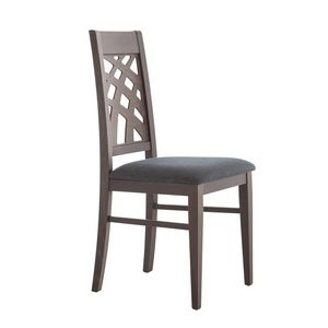 MP490D, Chair with decorative backrest in wood