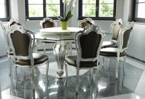Dolce Vita, Dining table with octagonal glass top