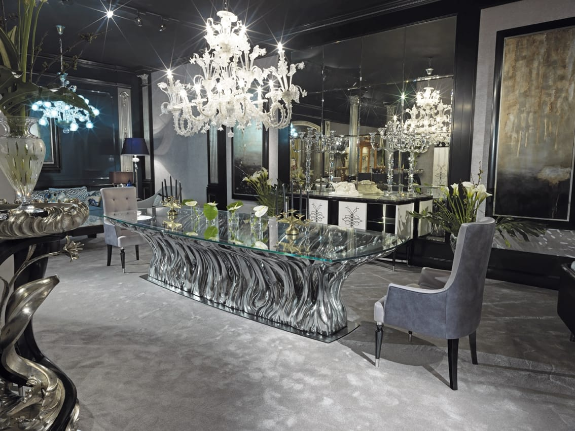 FICUS Table, Luxury crystal table