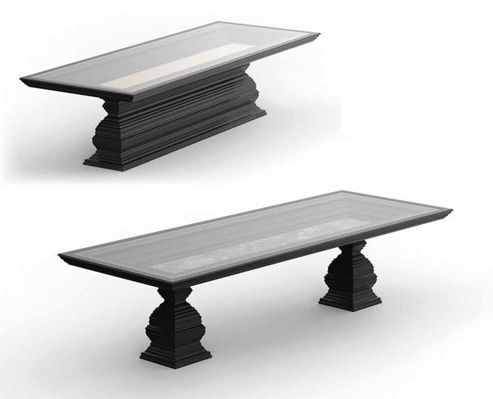 Frames Art. T05, Table with lacquered base