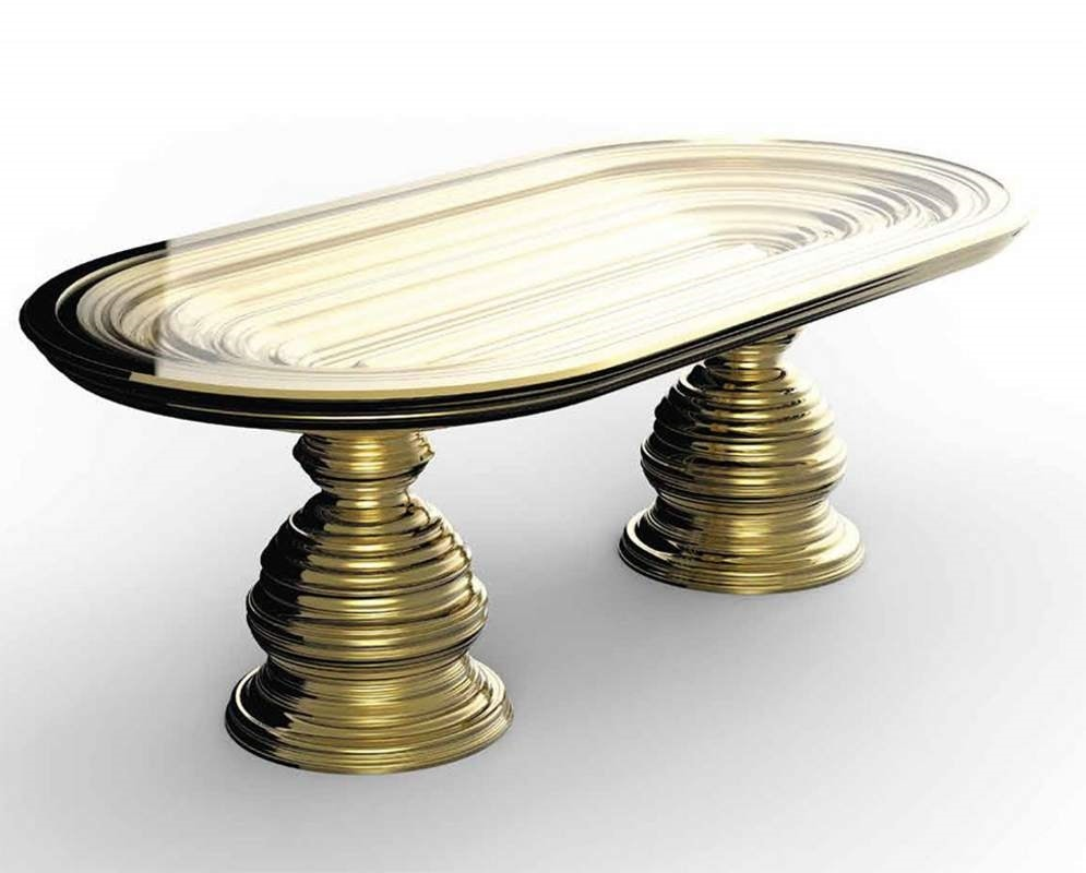 Frames Art. T06, Table with gold leaf base