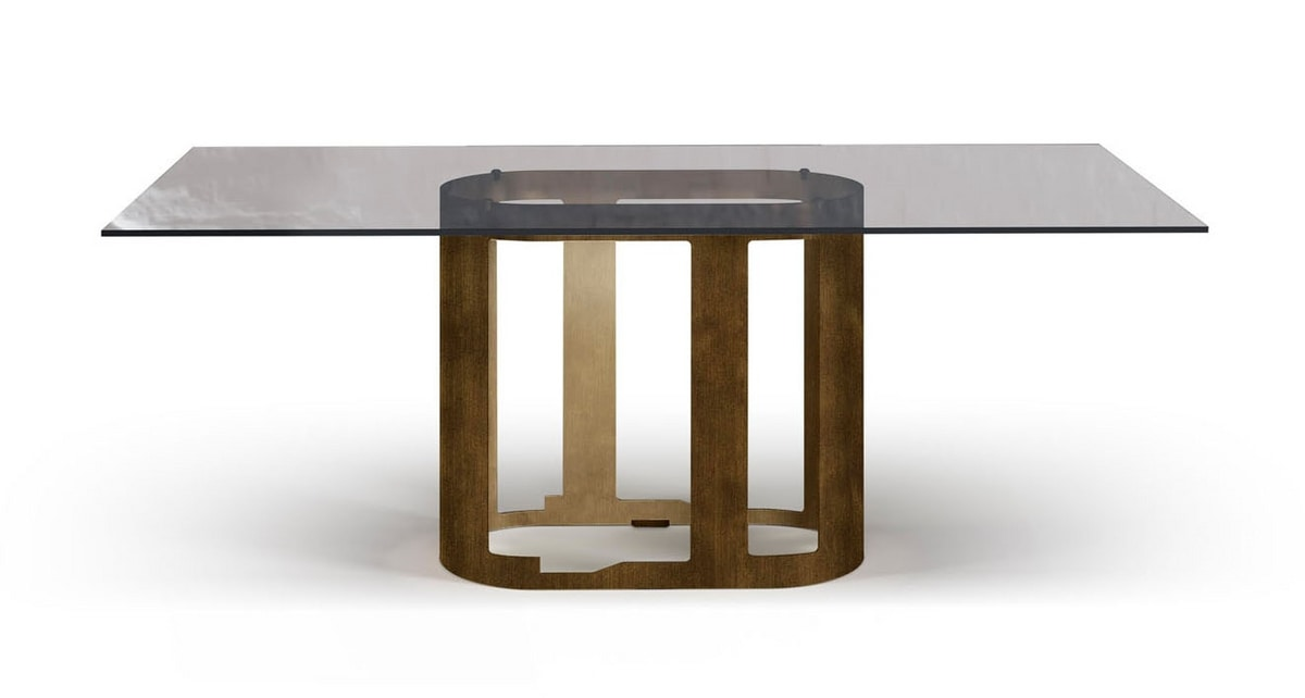 Oasi table, Table with glass or ceramic top