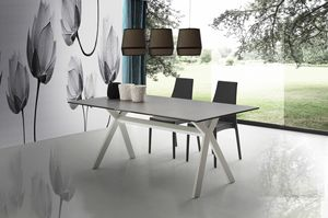 s08 archille, Dining table with metal base