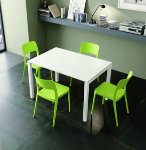 s45 amedeo, Extendable dining table with metal structure