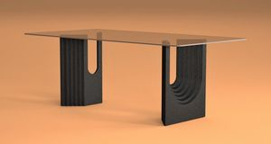 Ulisse, Dining table with stone base