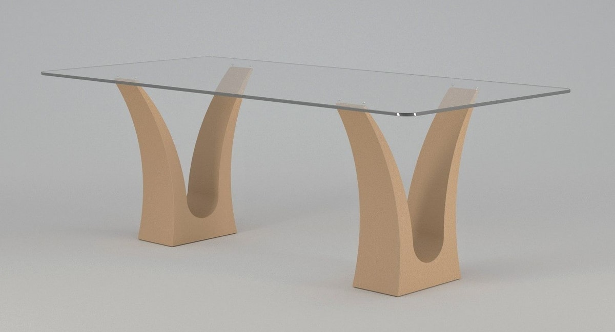 Victory, Dining table with double stone base