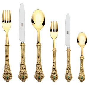 BRONZE CUTLERY, Sumptuous cutlery with a bronze handle