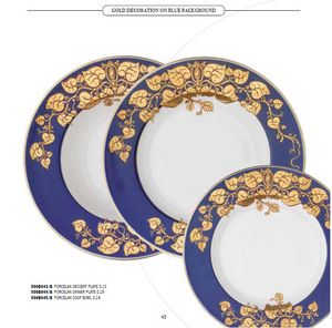 DEC dishes, Porcelain plates, with various decorations