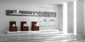 Revolution - wall unit for gifts & wedding list shops, Exhibitor furniture for shops