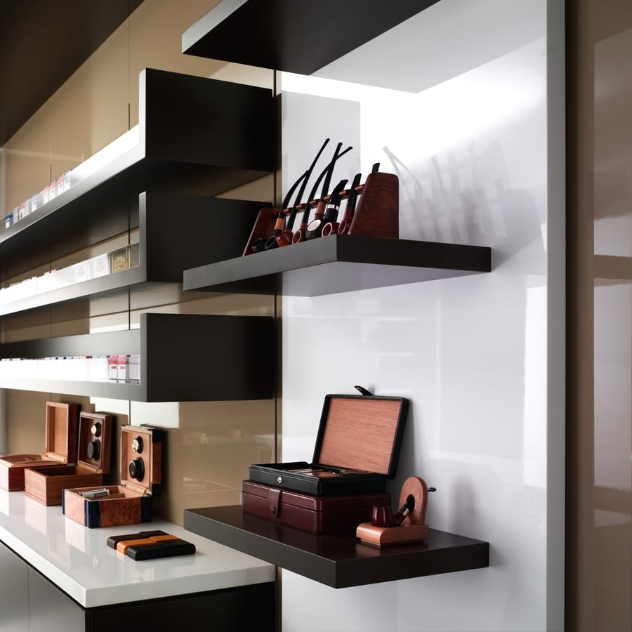 Revolution - wall unit for tobacconists and stationers, Modular display furniture, for stationers and tobacconists
