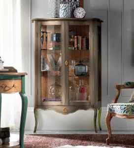 18th century display cabinet, Classic display cabinet, with ash back