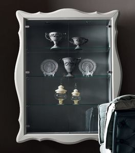 Alice Art. 532-G, Wall showcase, with glass shelves