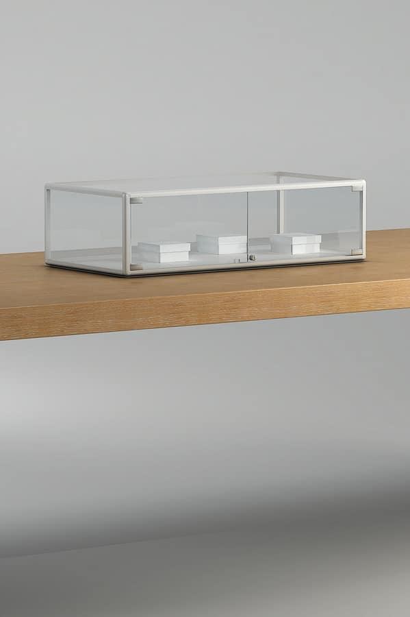 ALLdesign plus 1/TP - 4/TP, Countertop showcase with aluminum profiles