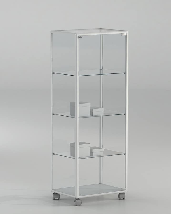 ALLdesign plus 51/14P, Glass showcase on wheels, for shop