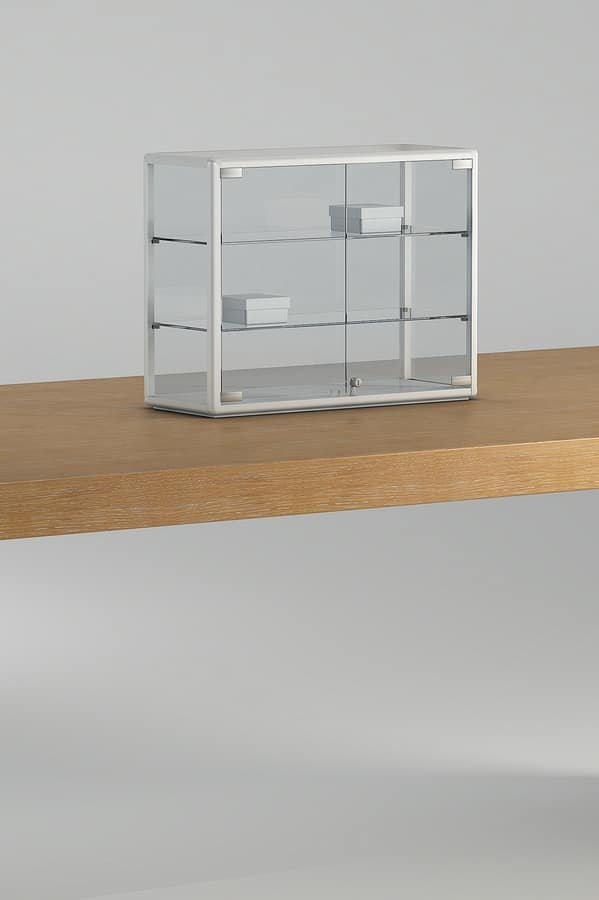ALLdesign plus 6/5P, Showcase with lock, for desks and counters