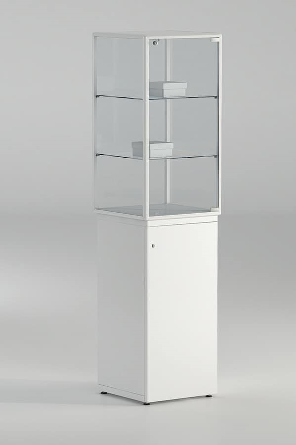 ALLdesign plus 7/LAP, Display cabinet with spotlights and lock, for shops
