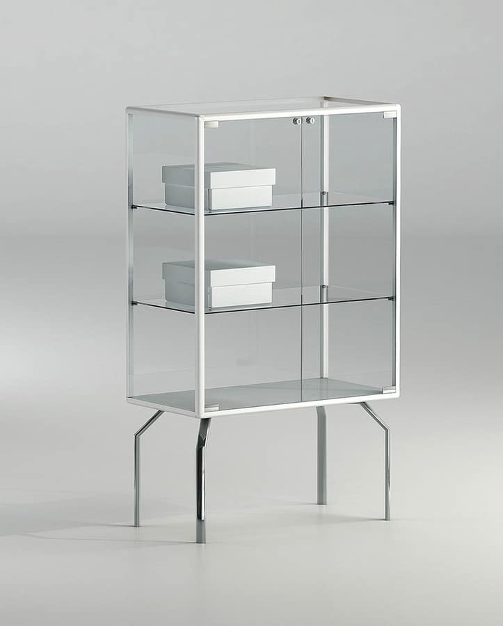 Alldesign Plus 71 12p Small Display Cabinet With Crystal Shelves