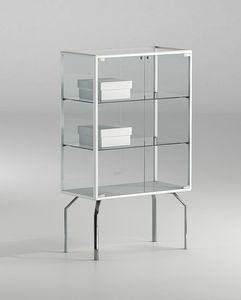ALLdesign plus 71/12P, Small display cabinet, with crystal shelves