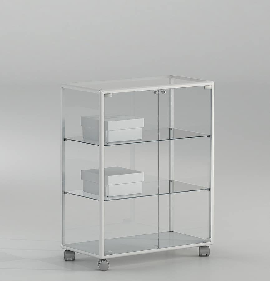 ALLdesign plus 71/BP, Small showcase for shops, with lockable door