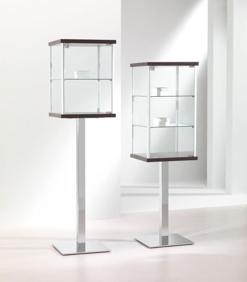 ALLdesign 2/PF - 3/PF, Glass showcase, display cabinets, Contemporary showcase Stores, Home, Exhibitions