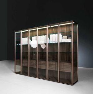 Teca Day, Modern display cabinet ideal for dining rooms or living rooms