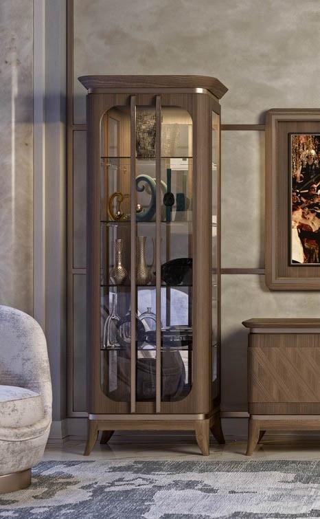 Art. 5006, 1 door cabinet in canaletto walnut