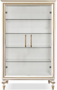 Diamante glass cupboard, Display cabinet with crystal shelves