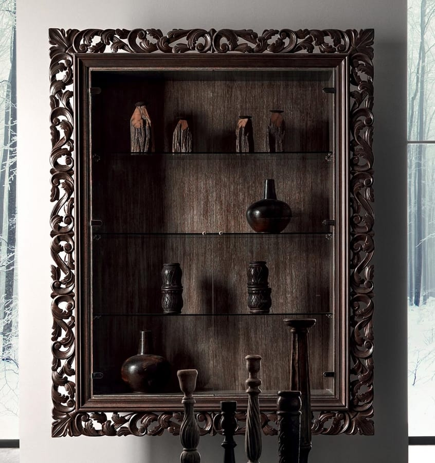 Gaston Art. 538-G, Wall showcase, with carved frame