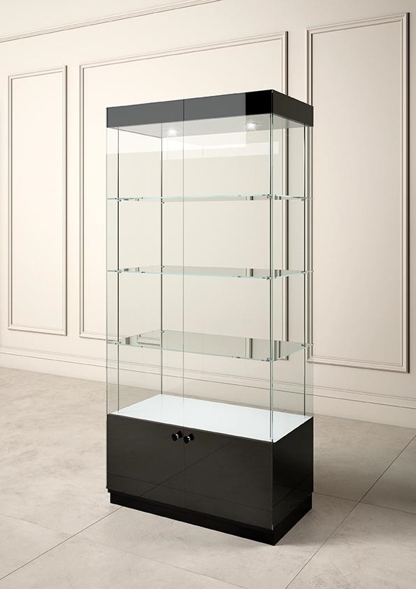 Glossy GL/10A, Display showcase with glass shelves