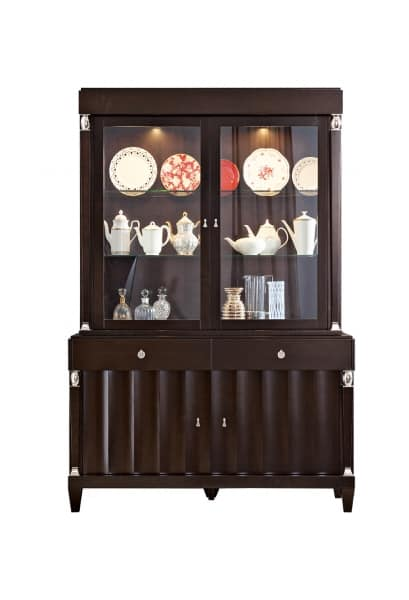 Heritage display cabinet, Living room display cabinet with internal lighting