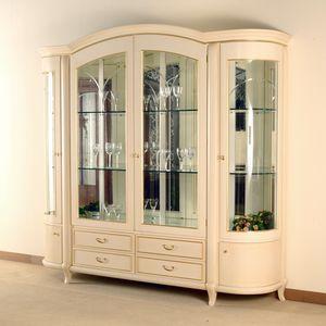 Hilton showcase 4 doors, Elegant showcase in classic style